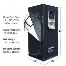 48''x48''x78'' Indoor Grow Tent Hydroponics Dark Room Box Home Depot Clone Hut Cloning Seedling 100% Reflective Mylar Non Toxic Plant Greenhouse Growing Horticulture Mars Hydro