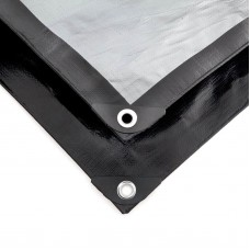 King Canopy Super Heavy Duty Tarp - Silver/Black