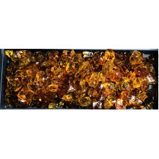 "Chestnut Fire Pit Glass Rocks, 1/2""-1"", 10 lbs   557306147"