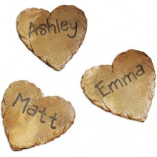 "Personalized Heart Cutout Garden Stepping Stone, 12""   563475302"