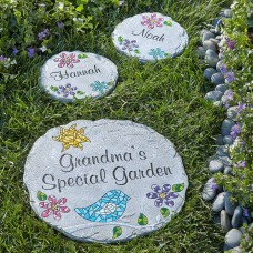 Personalized Mosaic Garden Stepping Stone, Available in 2 Sizes   555403472