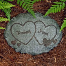 Personalized Two Hearts Garden Stone   552986986