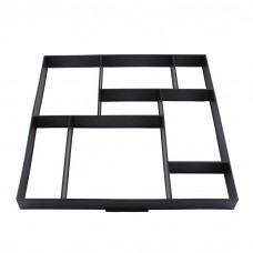 Walk Maker Concrete Stepping Stone Mold Garden Lawn Pathmate Stone Mold(8grid,50*50*4.5CM)