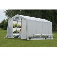 GrowIt Greenhouse-In-A-Box Easy Flow Greenhouse Peak-Style, 10' x 20' x 8'   554795859