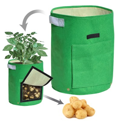 Strong Camel Garden Potato Grow Bag Planter Bag Felt Fabric for Vegetables Container Tub w Access Flap 1 PACK   566957826