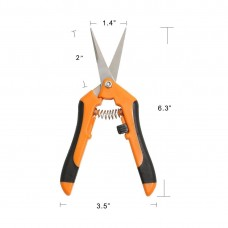 Pruning Shears Gardening Hand Pruning Snips with Straight Stainless Steel Precision Blades