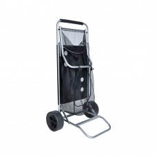 Beach Cart with Folding Table / Drink Holders - Grey Frame / Black Table