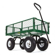 Gorilla Carts GOR400-COM Steel Garden Cart with Removable Sides, 400 lb Capacity, Green   555402556