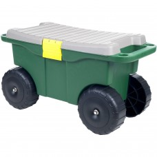 "Pure Garden 20"" Plastic Garden Storage Cart and Scooter   554746855"