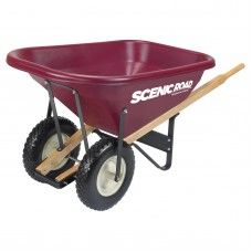 Scenic Road Dual Wheel 8 Cube Wheelbarrow - 800 lb Capacity