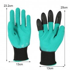 4 Pairs Garden Genie Gloves,Garden Glove Digging Planting Safe Gardening Gloves Tool Right Hand W/ 4 Plastic Claws for Easy Planting Pruning Weeding Seeding Poking   567246036