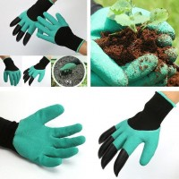 Safety Work Garden Gloves With Fingertips Planting Gardening Tools Mittens
