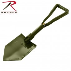 Deluxe, Heavy Duty Steel, Tri-fold Shovel with Canvas Cover