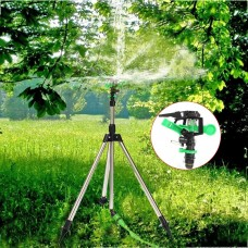 Metal Telescopic Tripod Impulse Sprinkler Pulsating Watering Lawn Yard and Garden