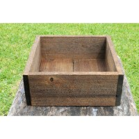 Loon Peak Escaler Square Wood Planter Box