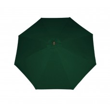 9' Outdoor Patio Market Umbrella - Hunter Green and Cherry Wood