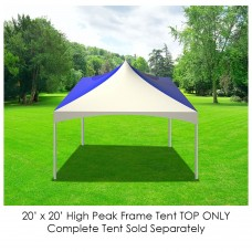 Party Tents Direct 20' x 20' Outdoor Wedding Canopy Event Tent Top ONLY, Solid Green
