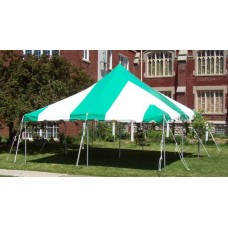 Party Tents Direct 20x20 Outdoor Wedding Canopy Event Pole Tent, Top ONLY, Various Colors