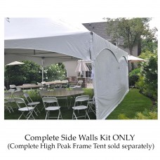 Party Tents Direct Outdoor Event Tent Complete Side Wall Kit (20x30)