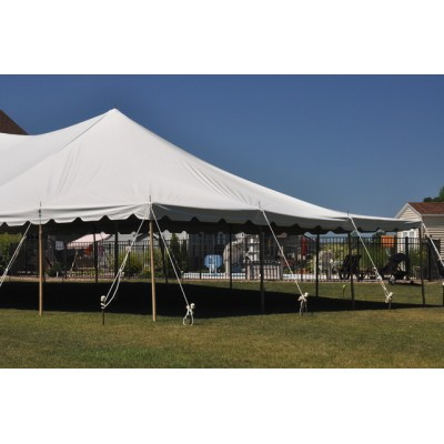 Party Tents Direct White Sectional Outdoor Wedding Canopy Pole Tent (30x100)