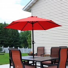 Sunnydaze 7.5 Foot Outdoor Aluminum Patio Umbrella with Tilt & Crank, Red   567147524