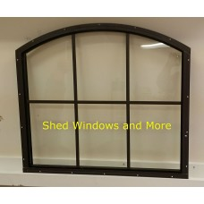 Shed Window 28 x 25 Brown Playhouses, Sheds, Barns, Garages