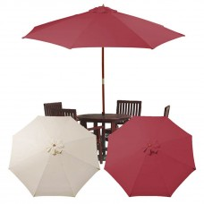 10 Feet Umbrella Replacement Canopy Outdoor Top Cover 10 Feet Sun Shade Sail Canopy,Red