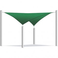 Aleko Square Waterproof Sun Shade Sail Canopy Tent Replacement, Choose Your Size And Color