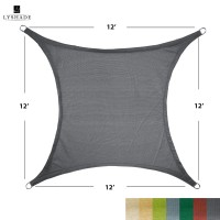 LyShade 12' x 12' Square Sun Shade Sail Canopy - UV Block for Patio and Outdoor