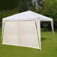Shatex Patio Awning Breathable Shade Cloth 10x10ft Beige