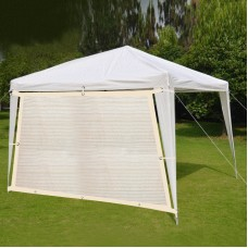 Shatex Patio Awning Breathable Shade Cloth 8x12ft Black