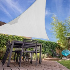 Triangle Sun Shade Sail 12 x 12 x 12 Ft UV Block Fabric White   570266645