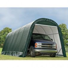 13' x 24' x10' Round Style Shelter, Gray   554796475
