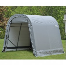 8' x 8' x 8' Round Style Shelter, Gray   554796647