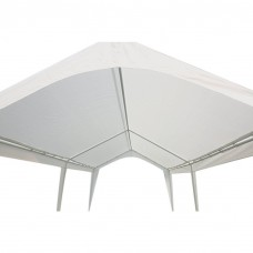 Abba Patio 10 x 20-FtcOutdoor Carport Canopy with 6 Steel Legs, White   565564100