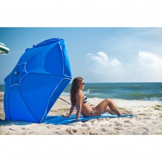6.5 ft. Heavy Duty Shade Star Steel Beach Umbrella with Ash Wood Pole, Olefin Fabric, Carry Bag