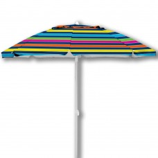 7' Caribbean Joe beach umbrella, double canopy windproof design with UV protection, with color matching carry case