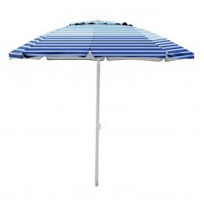 7' Caribbean Joe beach umbrella, double canopy windproof design with UV protection, with color matching carry case   557640827