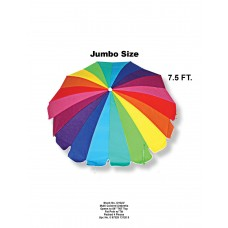 7.5' Rainbow Colored Beach Umbrella   563040124