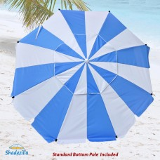 8 ft Premium Heavy Duty Beach Umbrella with Fiberglass Ribs and UPF 100+