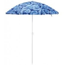 Mainstay 6.5ft Beach Umbrella Tiedye Indigo   556217089