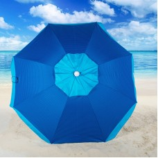 Rio Brands 6 ft. Tilt Beach Umbrella with Carry Bag - Stripe
