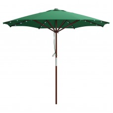 CorLiving Patio Umbrella with Solar Power LED Lights   554623064