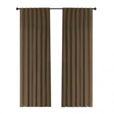 Alcott Hill Cranor Solid Semi-Opaque Outdoor Tab top Single Curtain Panel