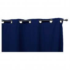 Easy Way Solid Polyester Outdoor Drape with Grommet Top