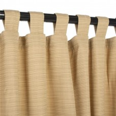 Hammock Source CUR108BMS 50 x 108 in. Sunbrella Outdoor Curtain with Tabs, Dupione Bamboo