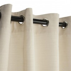 Hammock Source CUR96PLGRSN 50 x 96 in. Sunbrella Outdoor Curtain with Nickel Plated Grommets, Dupione Pearl