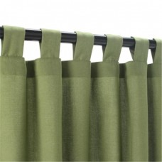 Outdoor Curtains CUR84CLS 54 in. x 84 in. Sunbrella Outdoor Curtain with Tabs - Cilantro
