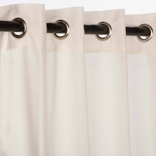 Sunbrella Sheer Snow Outdoor Curtain with Nickel Plated Grommets 50 in. x 108 in.
