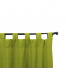 Easy Way Solid Polyester Outdoor Drape with Tab Top